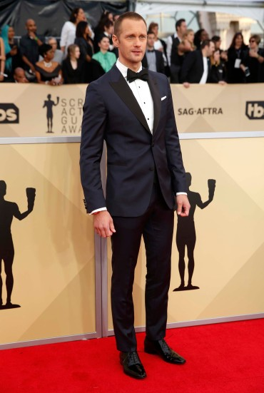 24th Screen Actors Guild Awards – Arrivals – Los Angeles, California, U.S., 21/01/2018 – Actor Alexander Skarsgard. REUTERS/Monica Almeida