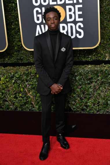 Mandatory Credit: Photo by Rob Latour/REX/Shutterstock (9307694bq) Caleb McLaughlin 75th Annual Golden Globe Awards, Arrivals, Los Angeles, USA - 07 Jan 2018