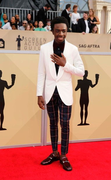 24th Screen Actors Guild Awards – Arrivals – Los Angeles, California, U.S., 21/01/2018 – Actor Caleb McLaughlin. REUTERS/Monica Almeida