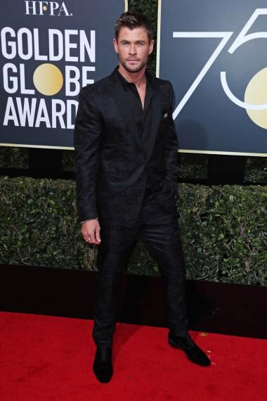 Mandatory Credit: Photo by REX/Shutterstock (9307701fq) Chris Hemsworth 75th Annual Golden Globe Awards, Arrivals, Los Angeles, USA - 07 Jan 2018
