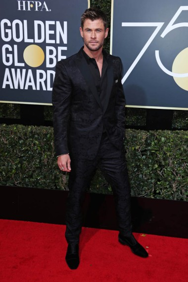 Mandatory Credit: Photo by REX/Shutterstock (9307701fq) Chris Hemsworth 75th Annual Golden Globe Awards, Arrivals, Los Angeles, USA - 07 Jan 2018