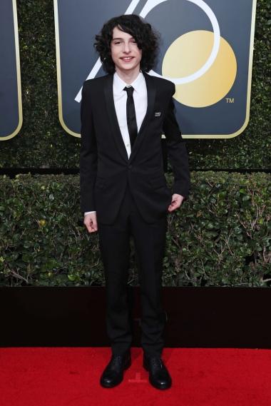 Mandatory Credit: Photo by REX/Shutterstock (9307701bl) Finn Wolfhard 75th Annual Golden Globe Awards, Arrivals, Los Angeles, USA - 07 Jan 2018