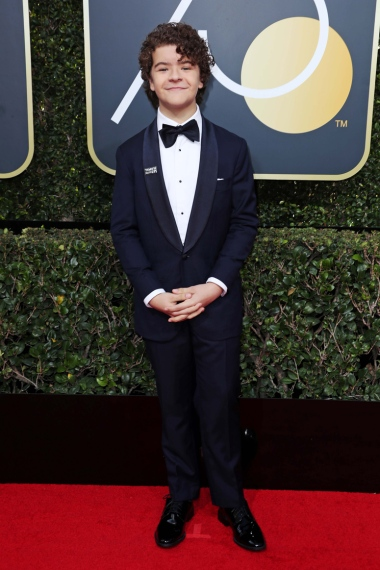 Mandatory Credit: Photo by REX/Shutterstock (9307701bn) Gaten Matarazzo 75th Annual Golden Globe Awards, Arrivals, Los Angeles, USA - 07 Jan 2018