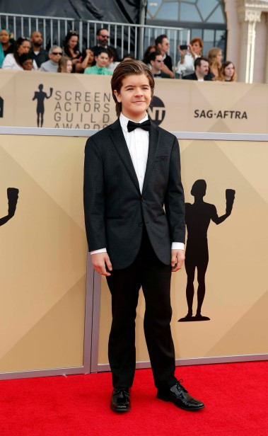 24th Screen Actors Guild Awards – Arrivals – Los Angeles, California, U.S., 21/01/2018 – Gaten Matarazzo. REUTERS/Monica Almeida