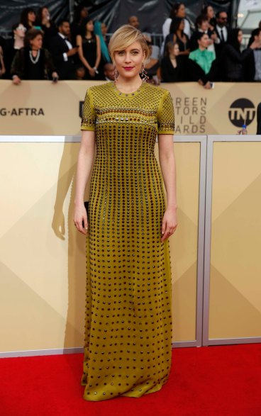 24th Screen Actors Guild Awards – Arrivals – Los Angeles, California, U.S., 21/01/2018 – Actress Greta Gerwig. REUTERS/Monica Almeida