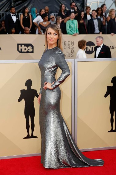 24th Screen Actors Guild Awards – Arrivals – Los Angeles, California, U.S., 21/01/2018 – Actress Natalie Zea. REUTERS/Monica Almeida