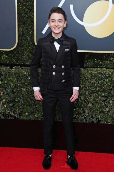 Mandatory Credit: Photo by REX/Shutterstock (9307701bm) Noah Schnapp 75th Annual Golden Globe Awards, Arrivals, Los Angeles, USA - 07 Jan 2018