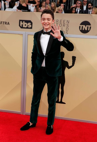 24th Screen Actors Guild Awards – Arrivals – Los Angeles, California, U.S., 21/01/2018 – Actor Noah Schnapp. REUTERS/Monica Almeida