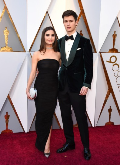 Violetta Komyshan, left, and Ansel Elgort arrive at the Oscars on Sunday, March 4, 2018, at the Dolby Theatre in Los Angeles. (Photo by Jordan Strauss/Invision/AP)