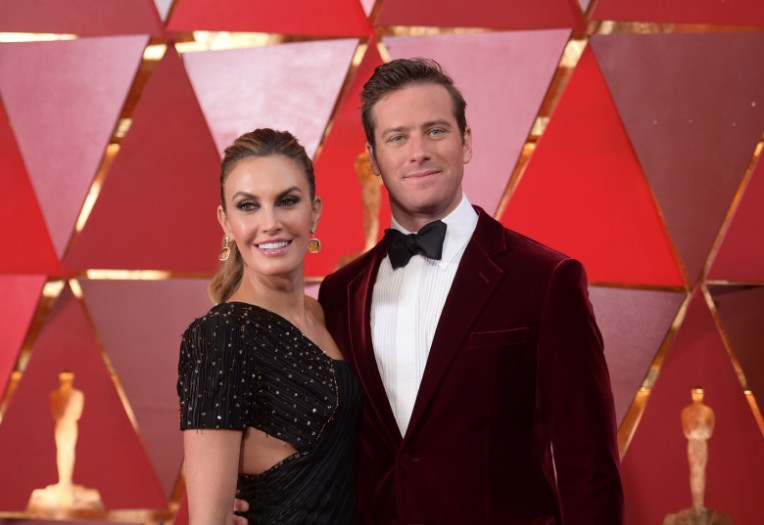 Elizabeth Chambers, left, and Armie Hammer arrive at the Oscars on Sunday, March 4, 2018, at the Dolby Theatre in Los Angeles. (Photo by Richard Shotwell/Invision/AP)